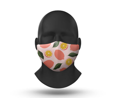 lemons facemask front view