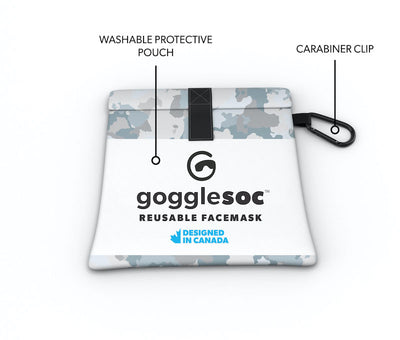 blue camo facemask pouch view