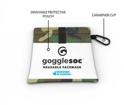 green camo facemask pouch view