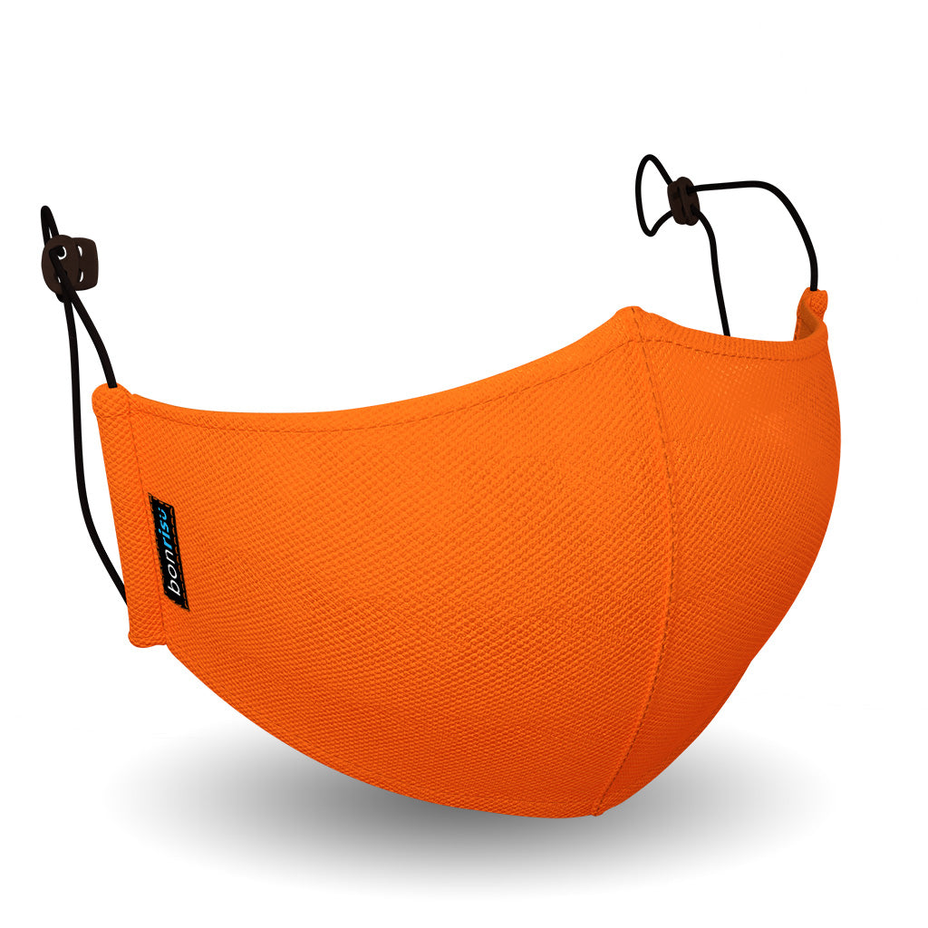 Lightweight Mask - Tiger Orange - 3D View