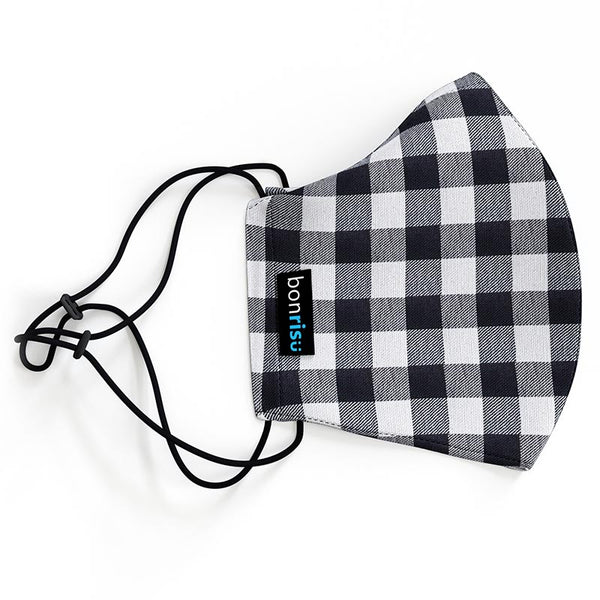 Original Mask Black Gingham - Side View