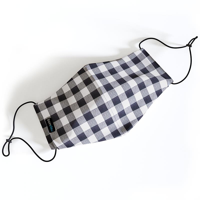 Original Mask - Black Gingham - Top View