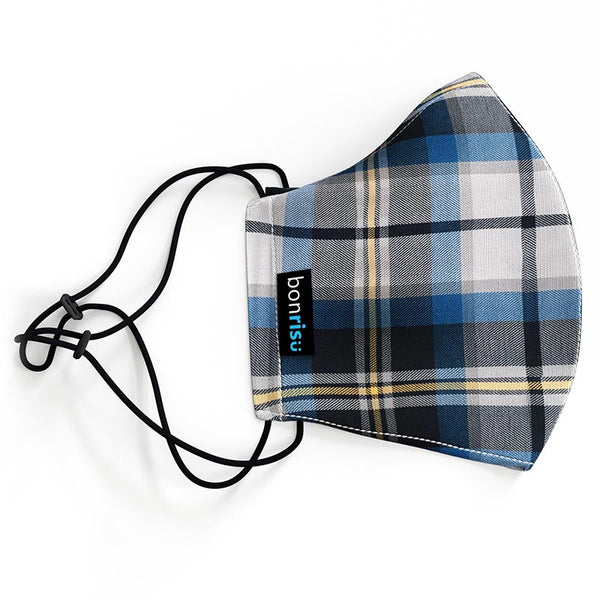 Original Mask - Blue Plaid - Side View