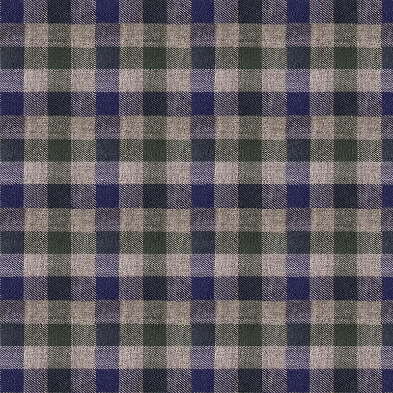 Blue and Green Gingham Flannel - Color Swatch
