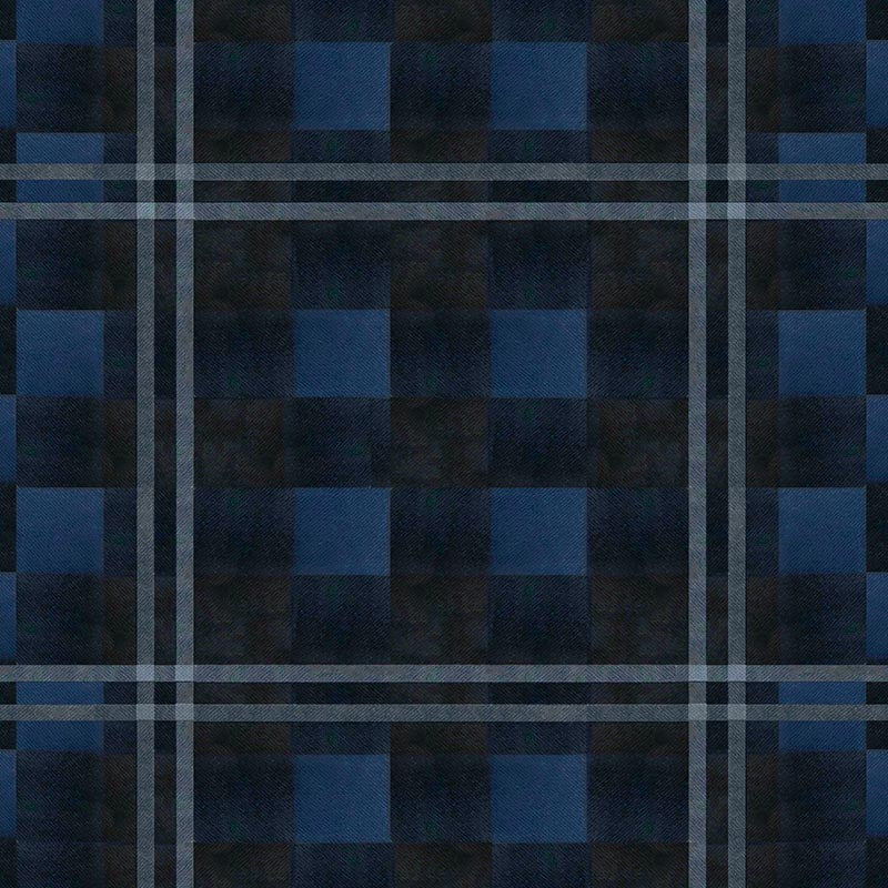 Original Mask - Navy Plaid Flannel - Color Swatch
