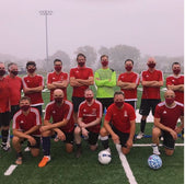 Soccer Team with Burgundy Masks