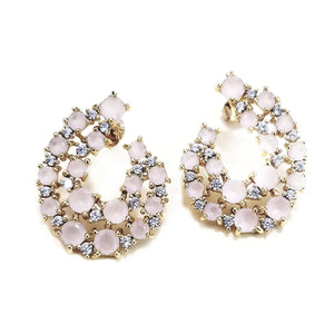 Chic crystal and zirconia earrings