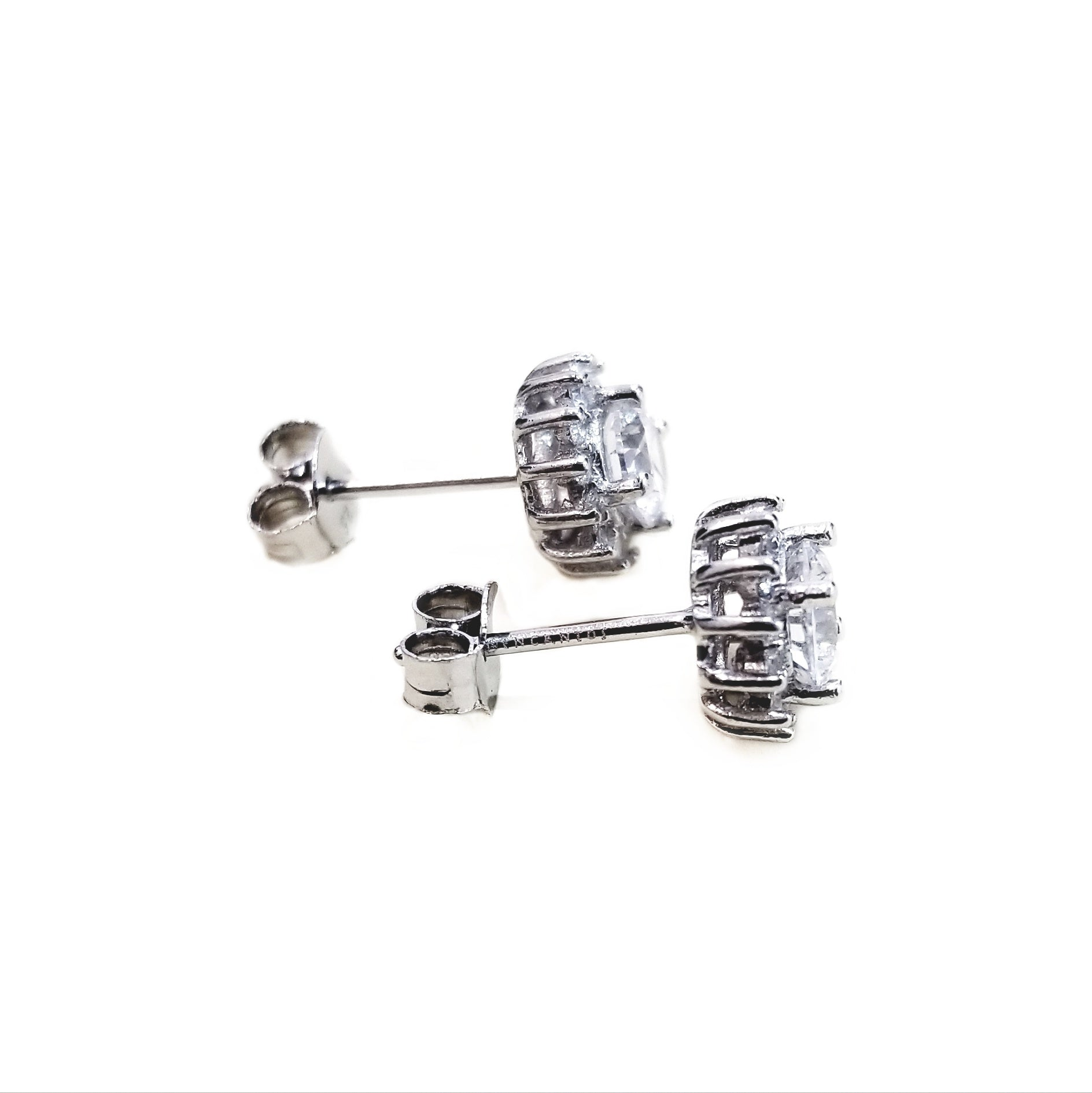 Earrings with zirconia and rhodium-plated silver gift idea