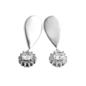 Sparkle earrings with handmade zirconia and silver