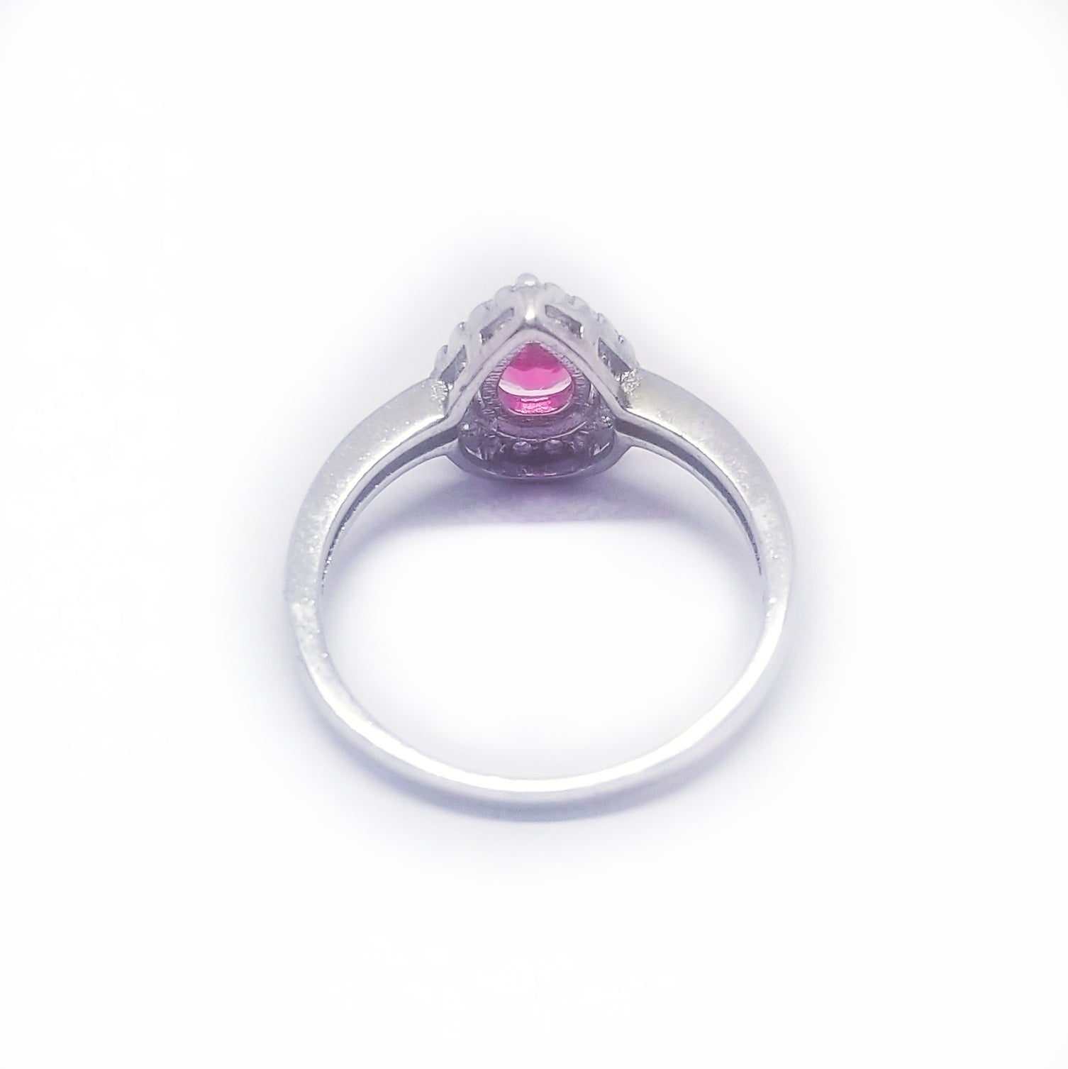 Posterior look of the sterling silver ring