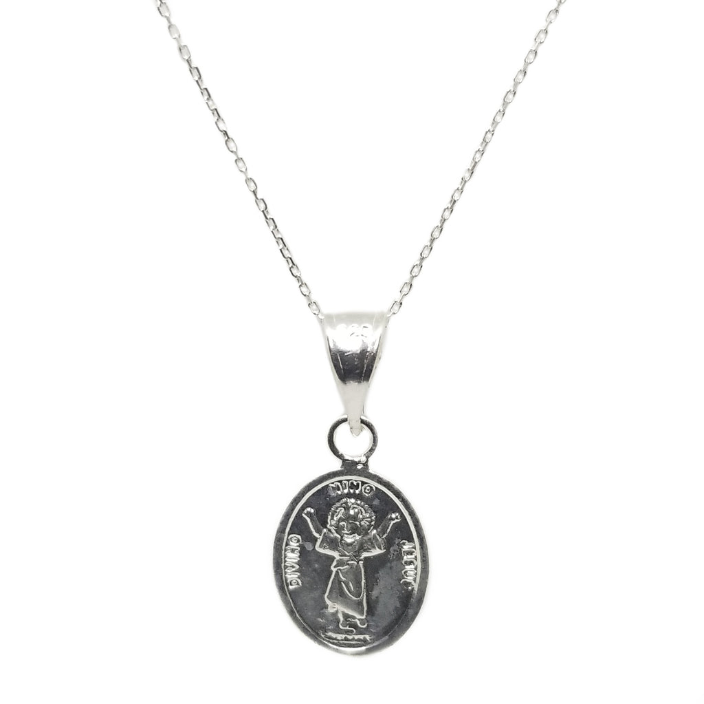 Sterling silver kid Jesus chain and pendant perfect for protection and christenings gift ideas