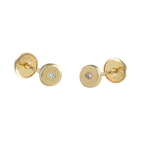 Diamond baby earrings in 14k Gold
