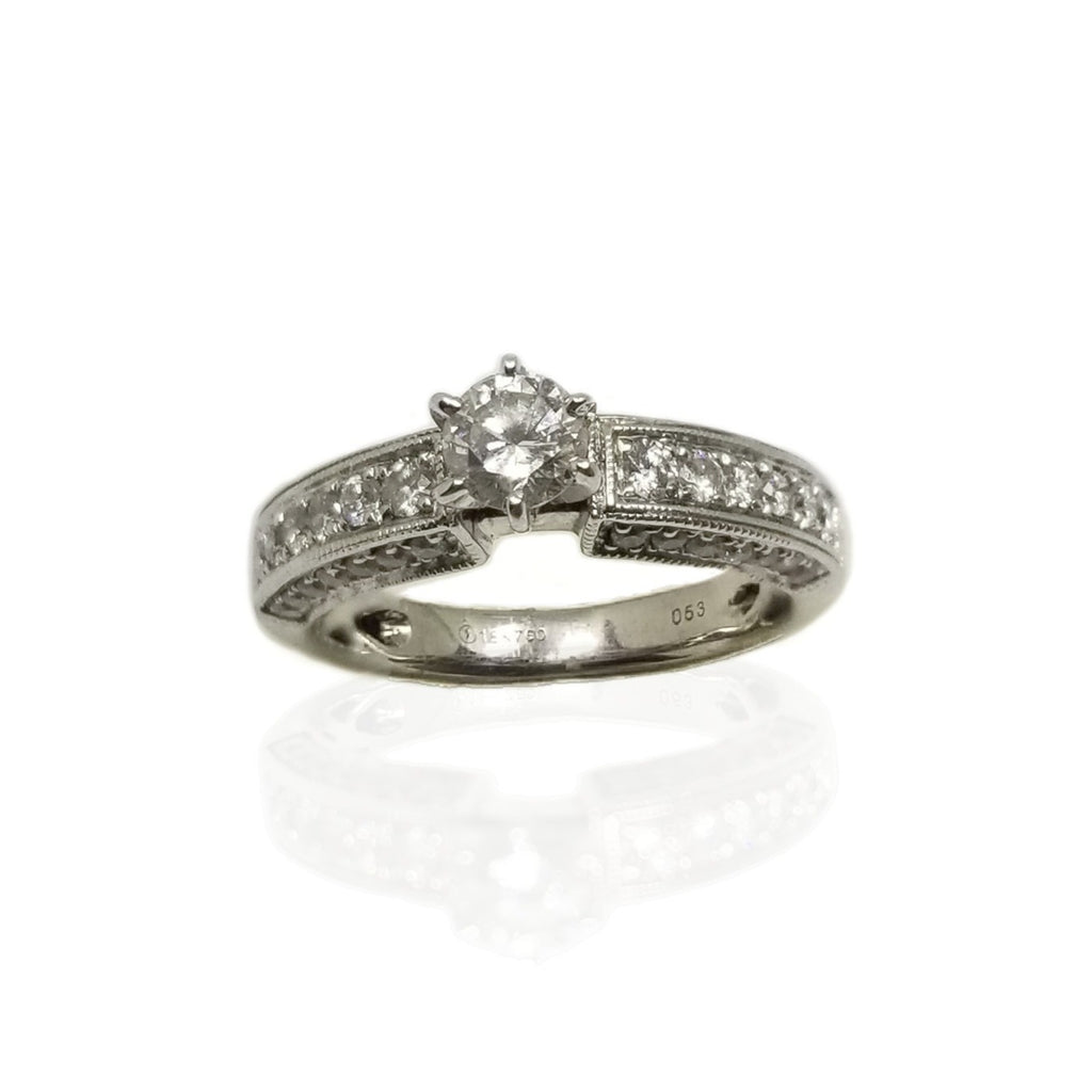 1.0 ct Diamond 18 white gold engagement ring