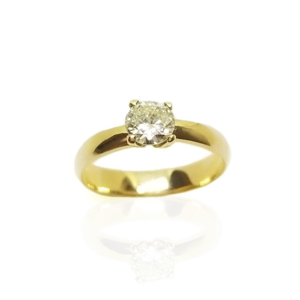 Solitaire Diamond 0.52ct engagement ring