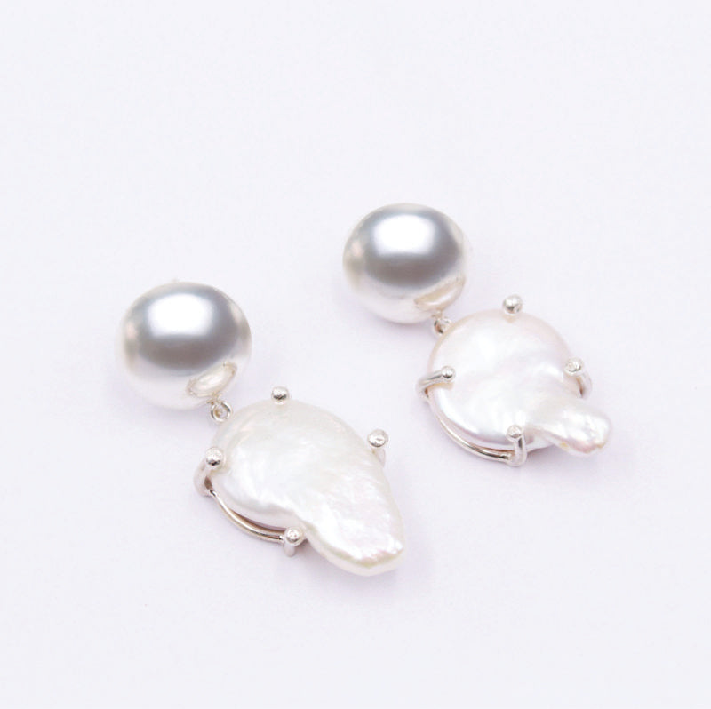 Plain sterling silver earrings