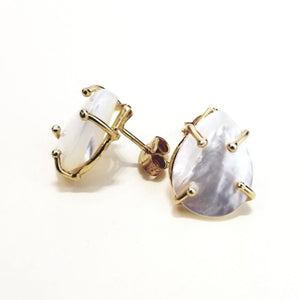 Handmade silver and mother-of-pearl earrings