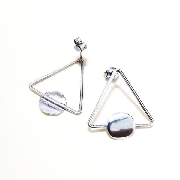 Triangular gemotric earrings