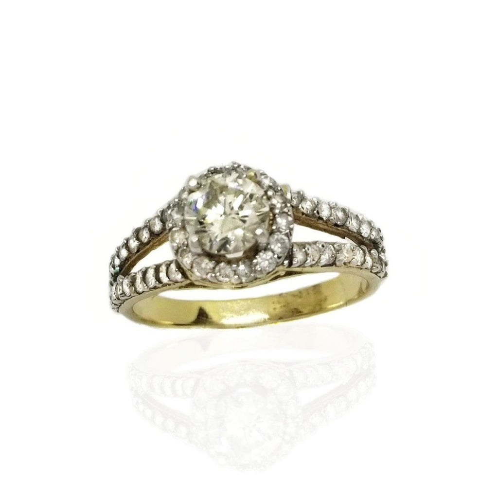 1 ct diamond engagement ring duo