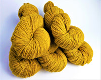 Aur hand dyed Welsh DK yarn, Welsh Mule and Welsh Bluefaced Leicester
