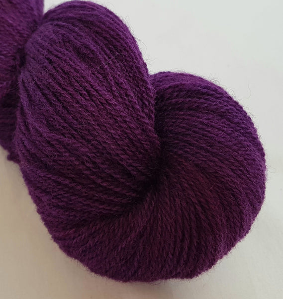 Coron hand dyed Welsh 4ply yarn, Welsh Mule and Welsh Bluefaced Leicester