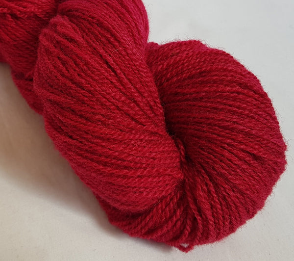 Draig hand dyed Welsh 4ply yarn, Welsh Mule and Welsh Bluefaced Leicester