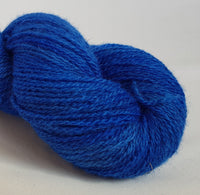 Lagŵn hand dyed Welsh 4ply yarn, Welsh Mule and Welsh Bluefaced Leicester