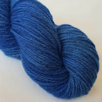 Lagŵn hand dyed Welsh DK yarn, Welsh Mule and Welsh Bluefaced Leicester