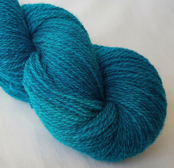 Mynydd Iâ hand dyed Welsh 4ply yarn, Welsh Mule and Welsh Bluefaced Leicester