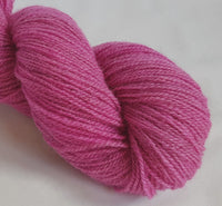 Rhosyn hand dyed Welsh 4ply yarn, Welsh Mule and Welsh Bluefaced Leicester