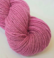 Rhosyn hand dyed Welsh DK yarn, Welsh Mule and Welsh Bluefaced Leicester