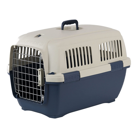 Marchioro Clipper Cayman Pet Carrier, Tan/Blue