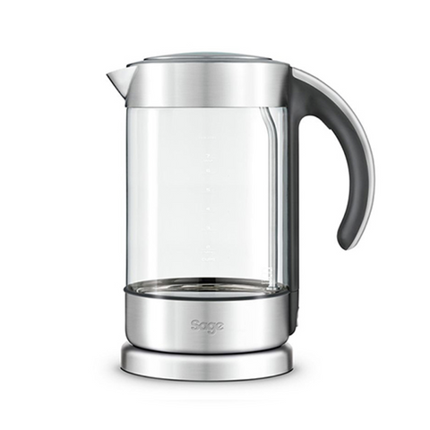 Sage the Crystal Clear™ Elegant Glass Kettle with Soft Open Lid