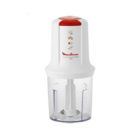 Moulinex DJ110160 Mini Chopper, White & Red