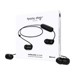 Happy Plugs In-Ear Wireless Bluetooth Headphones with Microphone, Black