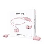 Happy Plugs In-Ear Wireless Bluetooth Headphones with Microphone, Blush