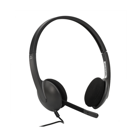 Logitech H340 USB Computer Headset with Computer Audio and Noise Cancelling Microphone