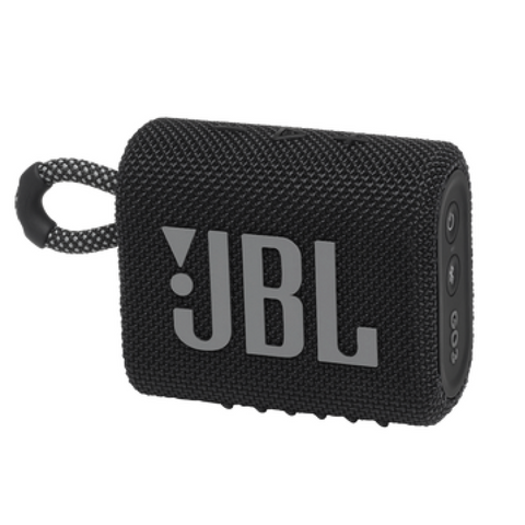 JBL GO 3 Portable Waterproof Wireless Bluetooth Speaker with Speakerphone, Black