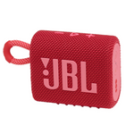 JBL GO 3 Portable Waterproof Wireless Bluetooth Speaker with Speakerphone, Red