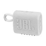 JBL GO 3 Portable Waterproof Wireless Bluetooth Speaker with Speakerphone, White