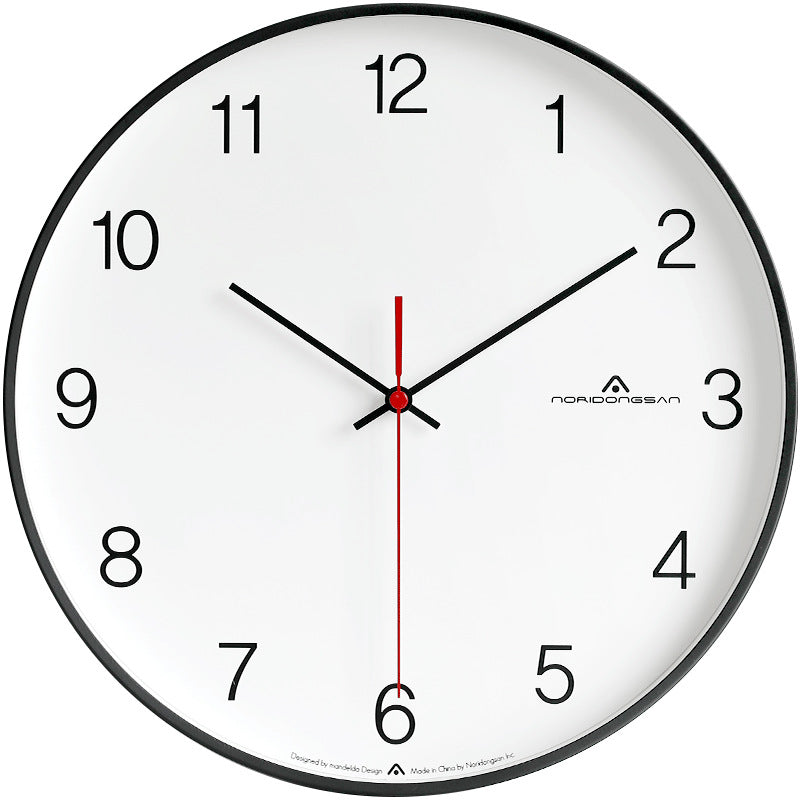 Modern Nordic Minimalist Fashion Atmosphere Mute Wall Clock