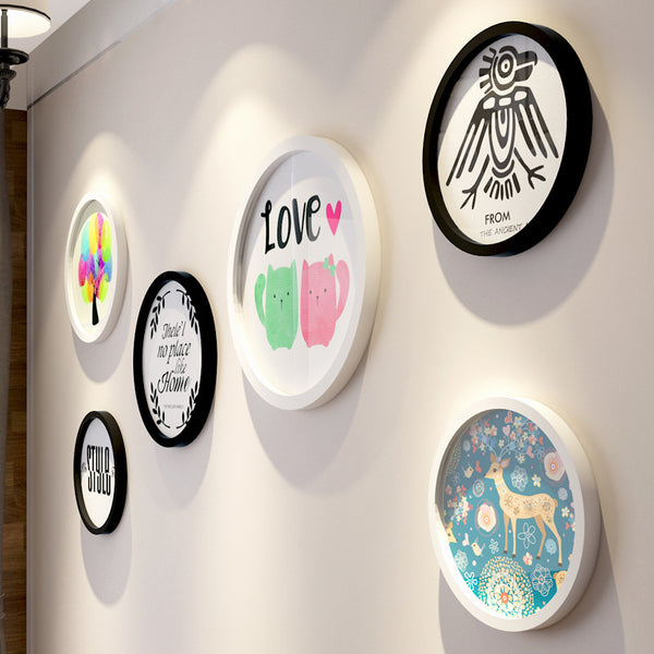 Simple Round Wall Picture Frame Set