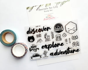 Let's Explore 4x6 Stamp