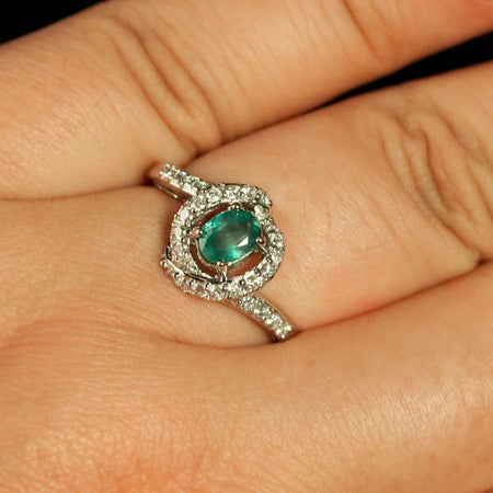 June Birthstone! $5000 Brilliant Natural Alexandrite Diamond 18k White Gold Ring