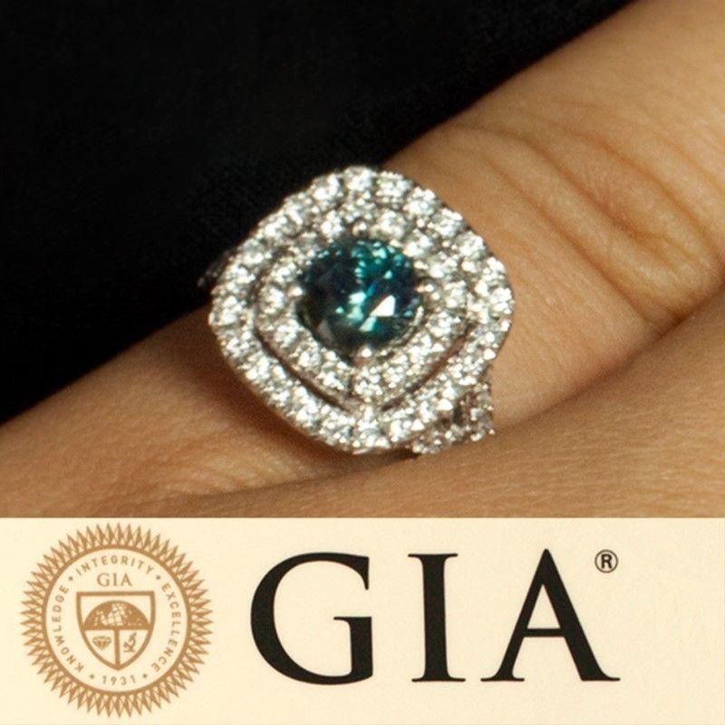 June Birthstone! 1.26ctw! Brilliant Strong Color Change Natural Alexandrite Diamond 14k Gold Ring
