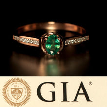 June Birthstone! Natural Alexandrite Diamond 18k Rose Gold Ring with GIA Certificate