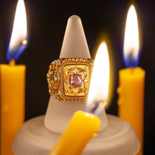 Natural Alexandrite Diamond 18k Yellow Gold Designers Men's Ring