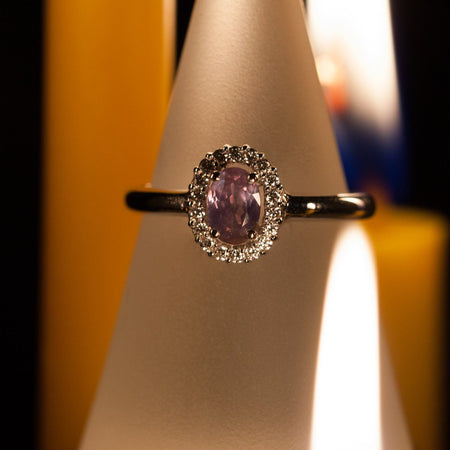 June Birthstone! Natural Alexandrite Diamond 18k Gold Ring