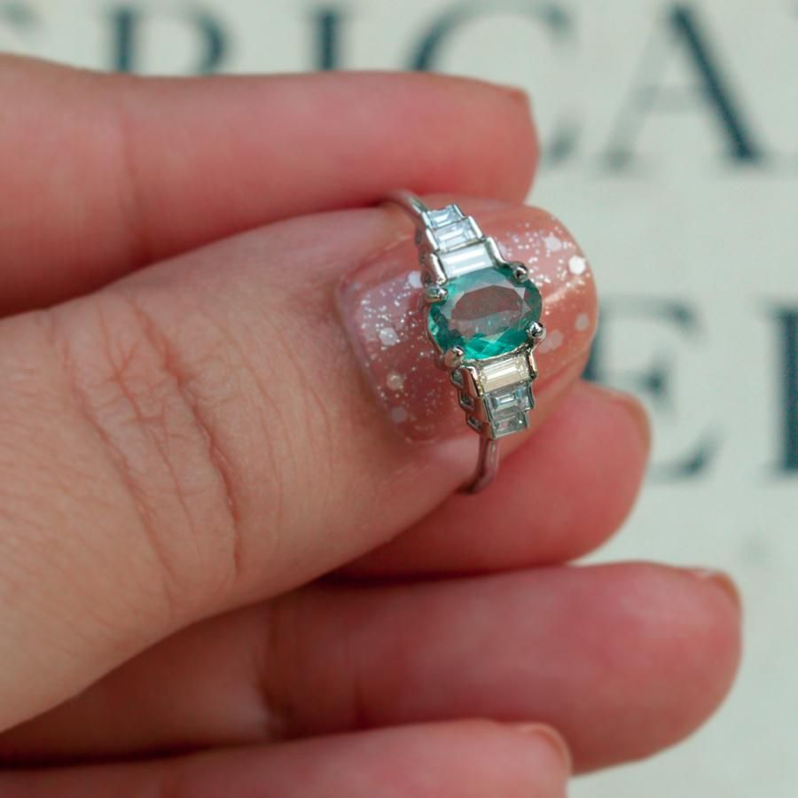 June Birthstone! $6000 Brilliant Natural Alexandrite Diamond 18k White Gold Ring