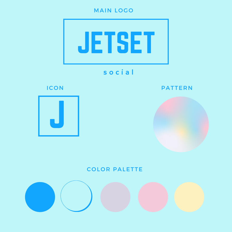 Jetset Brand Box | Customizable Canva Template