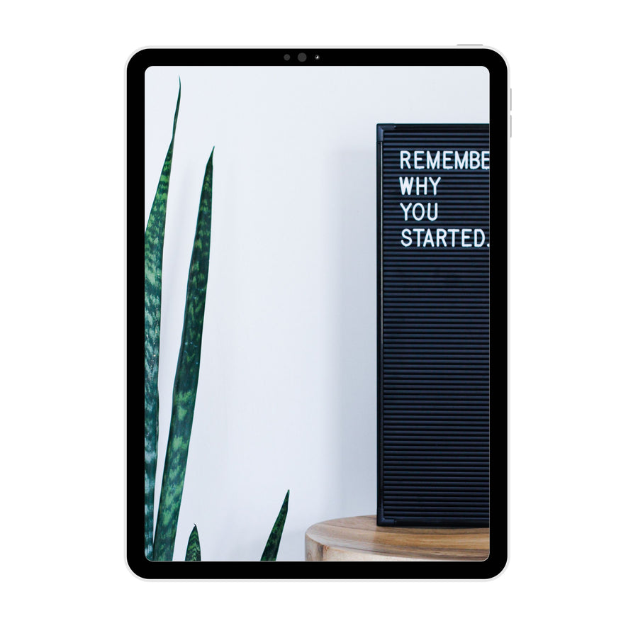 Brand Photography | Remember Why You Started Letterboard